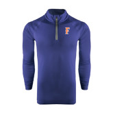 Under Armour Navy Tech 1/4 Zip Performance Shirt-F