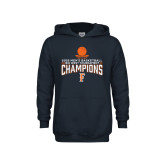 Youth Navy Fleece Hoodie-2018 Mens Basketball Champions - Net w/ Basketball