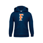 Youth Navy Fleece Hoodie-F