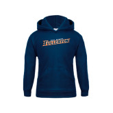 Youth Navy Fleece Hoodie-Cal State Fullerton