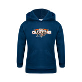Youth Navy Fleece Hoodie-2017 Big West Track & Field Champions