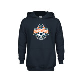 Youth Navy Fleece Hoodie-2017 Big West Womens Soccer Champions
