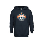 Youth Navy Fleece Hoodie-2017 Big West Mens Soccer Champions