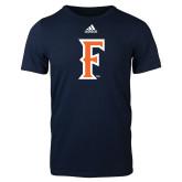 Adidas Navy Logo T Shirt-F
