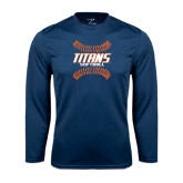 Performance Navy Longsleeve Shirt-Softball Sideway Seams