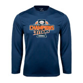 Performance Navy Longsleeve Shirt-2016 Big West Conference Champions Baseball