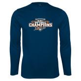 Performance Navy Longsleeve Shirt-2017 Big West Back to Back Softball Champions