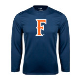Performance Navy Longsleeve Shirt-F