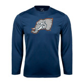 Performance Navy Longsleeve Shirt-Alternate Head