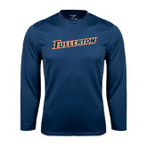 Performance Navy Longsleeve Shirt-Fullerton