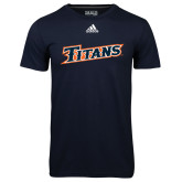 Adidas Climalite Navy Ultimate Performance Tee-Primary Logo