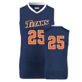 Replica Navy Adult Basketball Jersey-#25