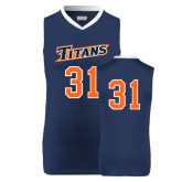 Replica Navy Adult Basketball Jersey-#31