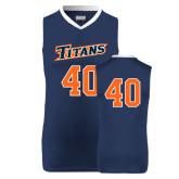 Replica Navy Adult Basketball Jersey-#40