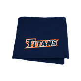Navy Sweatshirt Blanket-Primary Logo