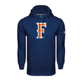 Under Armour Navy Performance Sweats Team Hoodie-F