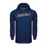 Under Armour Navy Performance Sweats Team Hoodie-Cal State Fullerton