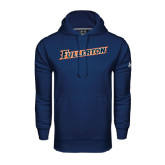 Under Armour Navy Performance Sweats Team Hoodie-Fullerton