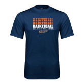 Performance Navy Tee-Basketball Repeating