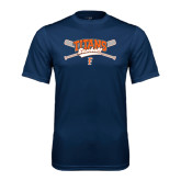 Performance Navy Tee-Baseball Crossed Bats