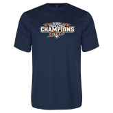 Performance Navy Tee-2017 Big West Track & Field Champions