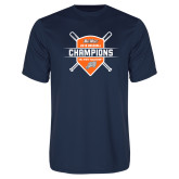 Performance Navy Tee-Big West 2018 Baseball Champions