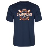 Performance Navy Tee-Big West 2018 Softball Champions