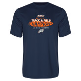 Performance Navy Tee-2018 Big West Track and Field Champions