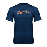 Performance Navy Tee-Cal State Fullerton