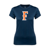 Ladies Syntrel Performance Navy Tee-F