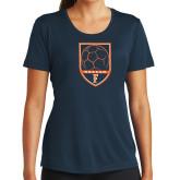 Ladies Syntrel Performance Navy Tee-Soccer Shield