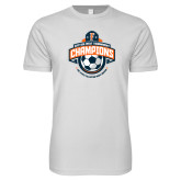 Next Level SoftStyle White T Shirt-2017 Big West Mens Soccer Champions