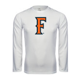 Performance White Longsleeve Shirt-F