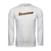 Performance White Longsleeve Shirt-Fullerton