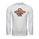 Performance White Longsleeve Shirt-2016 Big West Conference Champions Baseball