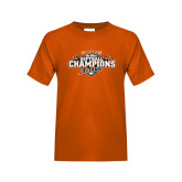 Youth Orange T Shirt-2017 Big West Back to Back Softball Champions