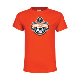 Youth Orange T Shirt-2017 Big West Mens Soccer Champions
