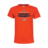 Youth Orange T Shirt-2018 Mens Basketball Champions - Brush