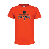 Youth Orange T Shirt-2018 Mens Basketball Champions - Net w/ Basketball