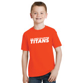 Youth Orange T Shirt-Cal State Fullerton Titans Stacked