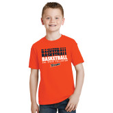 Youth Orange T Shirt-Basketball Repeating