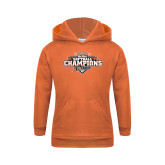 Youth Orange Fleece Hoodie-2017 Big West Back to Back Softball Champions