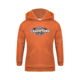 Youth Orange Fleece Hoodie-2017 Big West Track & Field Champions