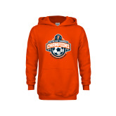 Youth Orange Fleece Hoodie-2017 Big West Womens Soccer Champions