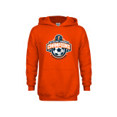 Youth Orange Fleece Hoodie-2017 Big West Mens Soccer Champions