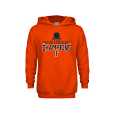 Youth Orange Fleece Hoodie-2018 Mens Basketball Champions - Net w/ Basketball