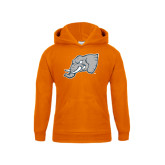 Youth Orange Fleece Hoodie-Alternate Head