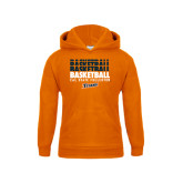 Youth Orange Fleece Hoodie-Basketball Repeating