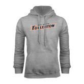 Grey Fleece Hoodie-Cal State Fullerton