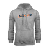 Grey Fleece Hood-Cal State Fullerton